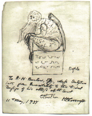 Lovecraft's Cthulhu Drawing